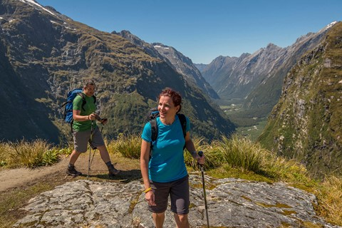Mackinnon Pass - with Clinton valley beyond - Milford Track guided walk
