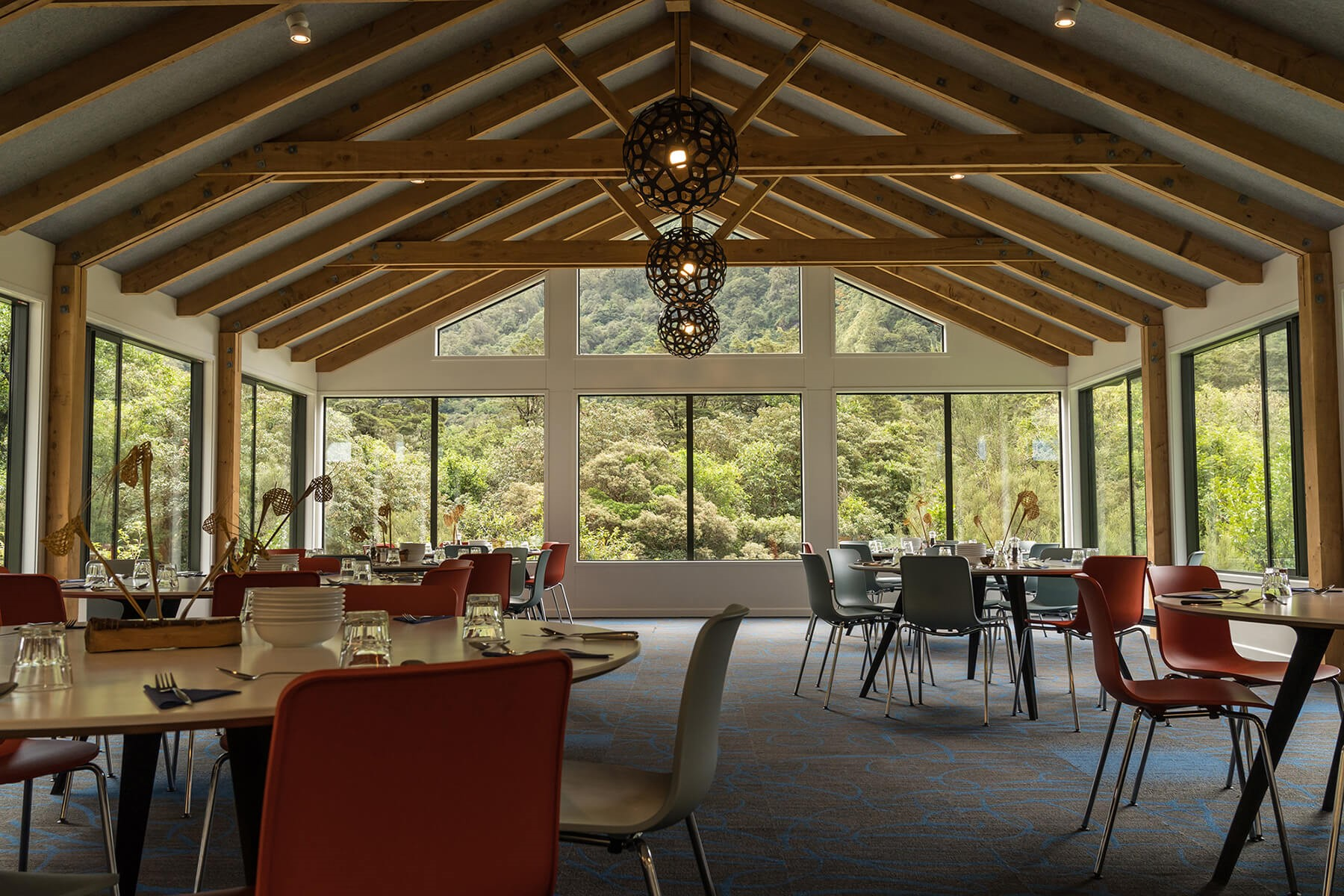 Dining room at Quintin Lodge on the Milford Track guided walk